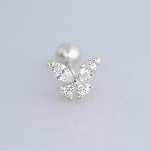 Butterfly Earring Sterling Silver Stud Earrings
