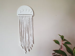 Moon Phase Wall Hanging - White