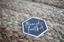 Load image into Gallery viewer, Flannel Feather Logo Sticker