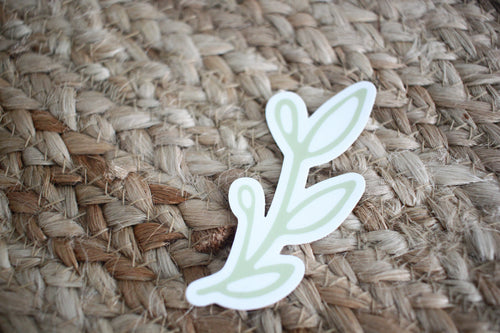 Flannel Feather Sticker