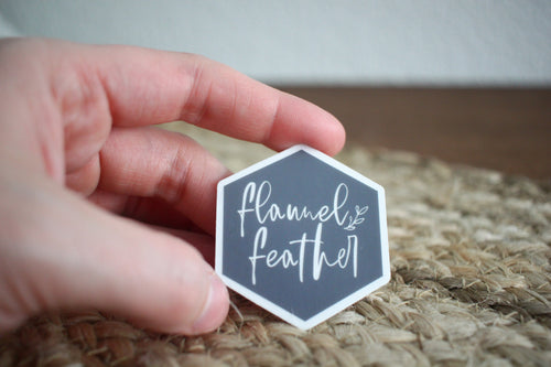 Flannel Feather Logo Sticker