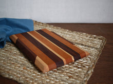 Load image into Gallery viewer, Walnut, Maple & Cherry Cutting Board #2 - Flannel Feather