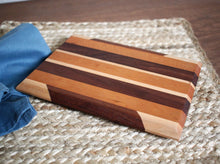 Load image into Gallery viewer, Walnut, Maple & Cherry Cutting Board #2