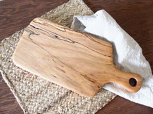 Load image into Gallery viewer, Spalted Maple Paddle Cutting Board