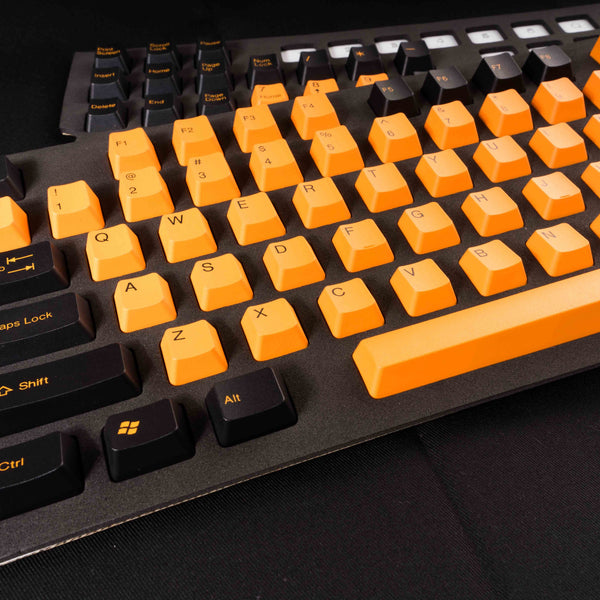 Tai-Hao Doubleshot PBT Orange Black Halloween Mix Keycap Set