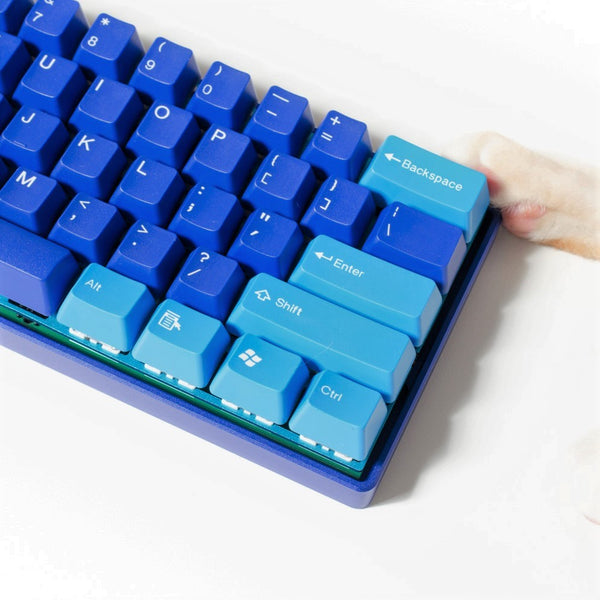 Tai-Hao Doubleshot ABS Ocean Blue Mix Keycap Set
