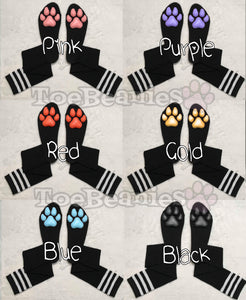 PREORDER CUSTOM Color on Black Socks with Bands