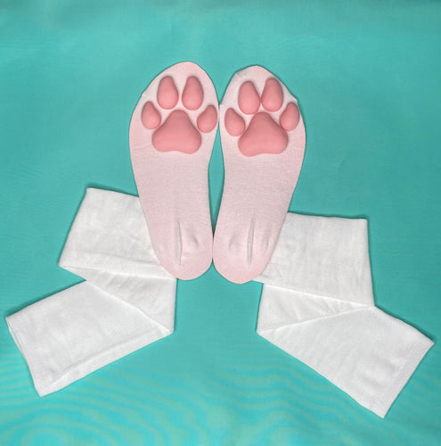 PREORDER Pink Puppy ToeBeanies on Solid White Socks