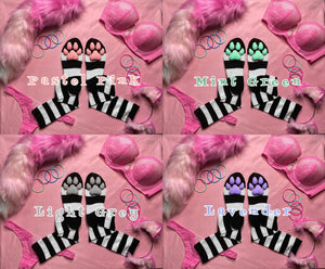 PREORDER CUSTOM COLOR Black & White Striped ToeBeanies