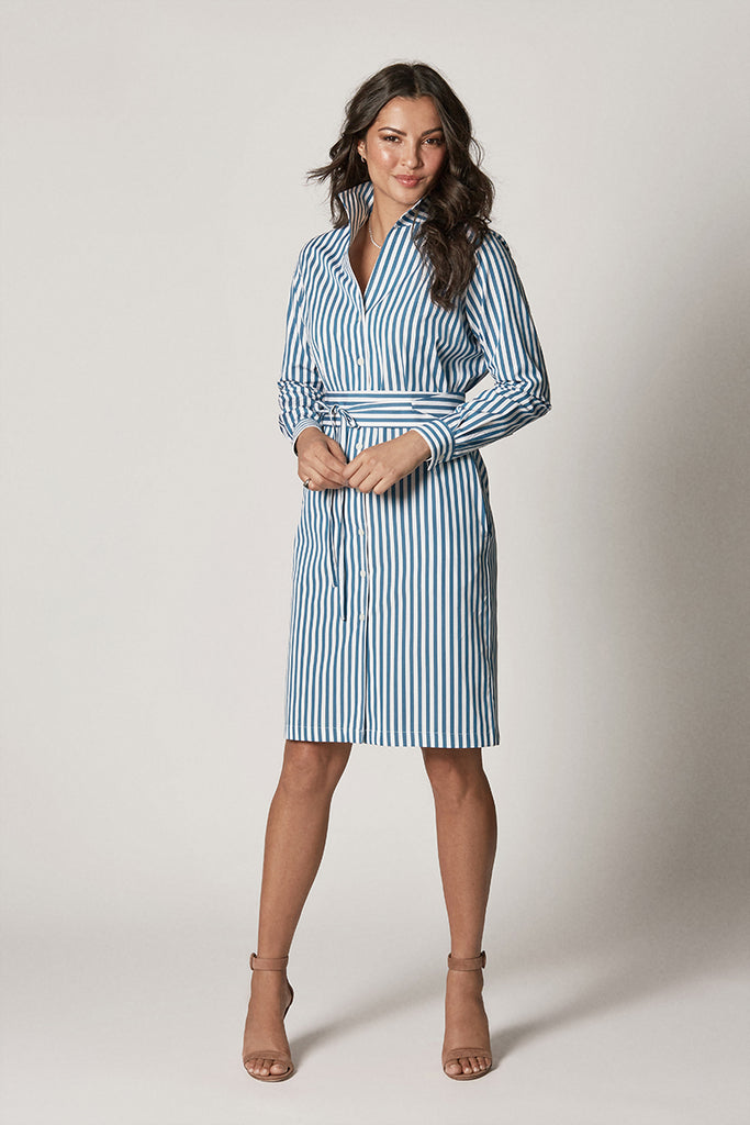 SHIRT DRESS: TEAL DEAL