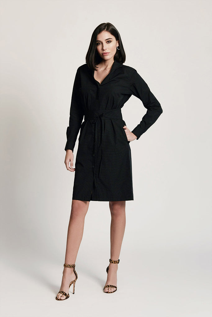 SHIRT DRESS: BLACK DIAMOND