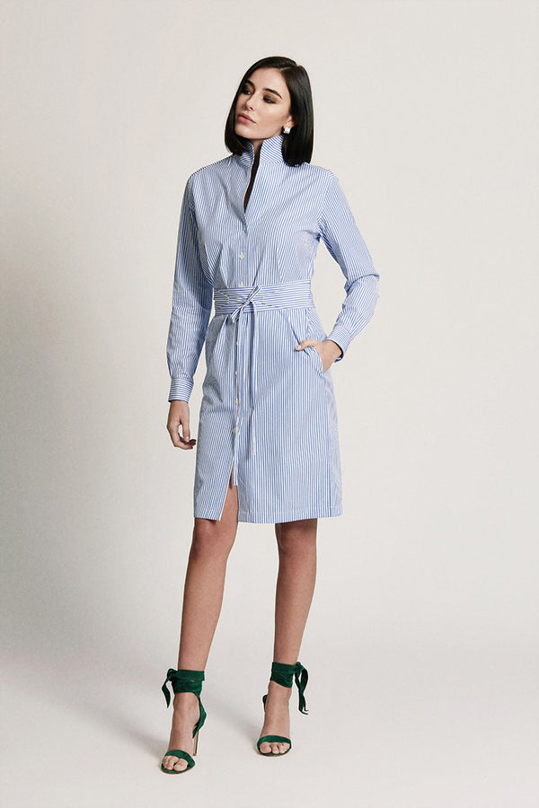 SHIRT DRESS: BOYFRIEND BLUE