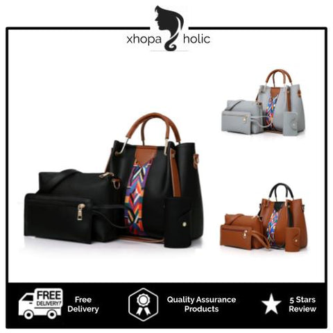Magaret 4 In 1 Women Premium Handbag Set