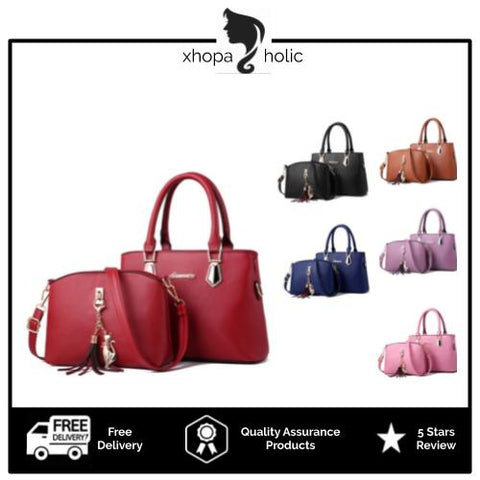 Dreamtale Fashionable 2 In 1 Premium PU Leather Women Handbag