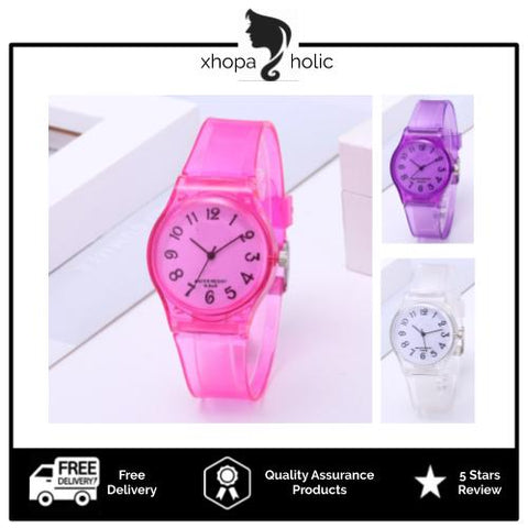 [2 For RM25] [100% Ready Stock] Colorful Jelly Sports Band Unisex Watches