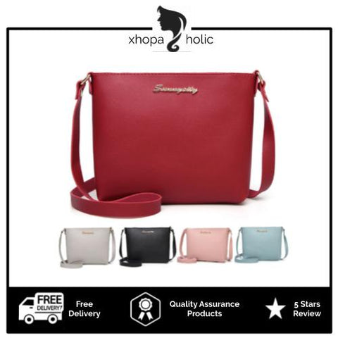 [3 For RM30] [100% Ready Stock] Premium PU Leather Fashionable Sling Bag
