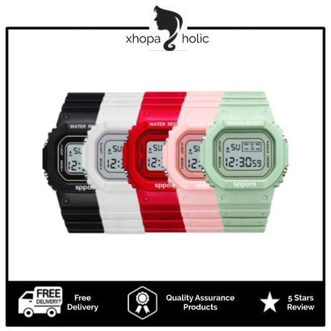 [Bundle for 2 @ RM35] [100% Ready Stock] Multi-Functional Unisex LED Digital Watch
