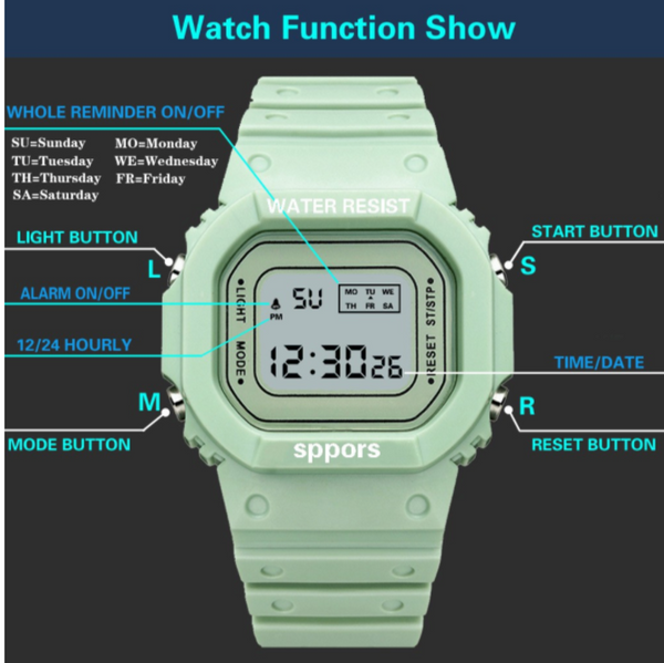 [Bundle for 2 @ RM45] [100% Ready Stock] Multi-Functional Unisex LED Digital Watch