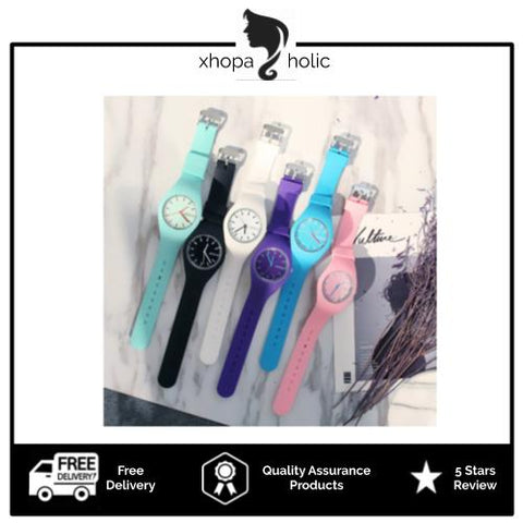 [100% Ready Stock] Trendy Korean Inspired Jelly Analog Watch