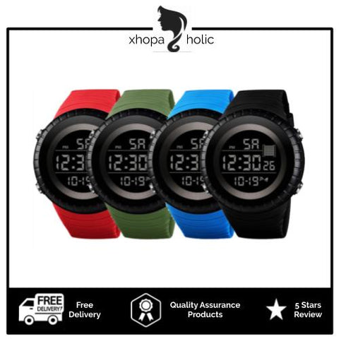 Big Dial Unisex Silicone Strap LED Digital Watch