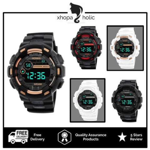 [Bundle for 2 @ RM45] [100% Ready Stock] Stylish Unisex Digital LED Sports Watch