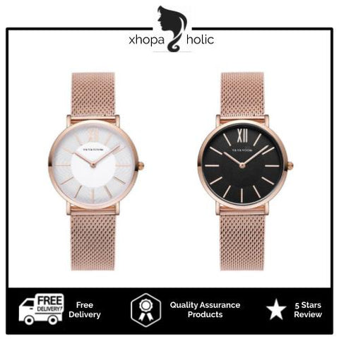 [Bundle for 2 @ RM65] [100% Ready Stock] Classic Melrose Luxury Mesh Strap Fashion Women Watch