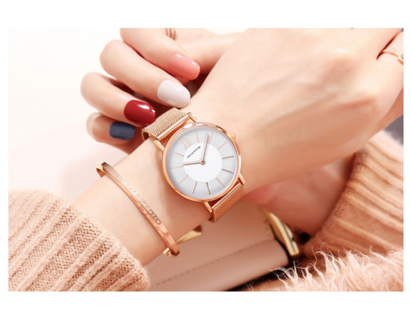 [100% Ready Stock] Classic Melrose Luxury Mesh Strap Fashion Women Watch