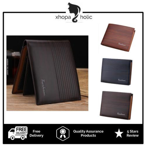 [Bundle For 2 @ RM45] [100% Ready Stock] Premium PU Leather Slim Wallet