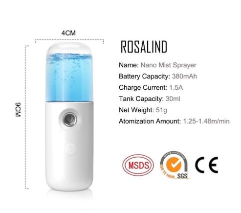 [100% Ready Stock] Mini USB Rechargeable Portable Hydrating Nano Water Spray