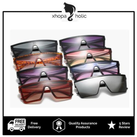 [100% Ready Stock] Stylish Oversized Unisex UV400 Sunglasses