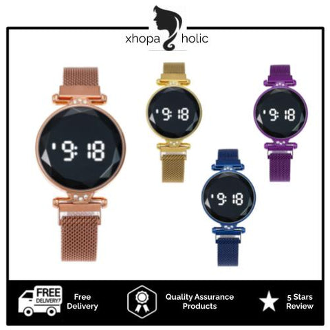 [Bundle For 2 @ RM55] [100% Ready Stock] Luxury LED Touch Screen Magnetic Buckle Women Watch