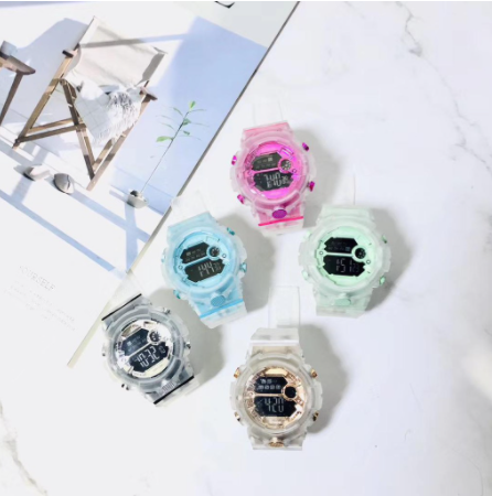 [Bundle For 2 @ RM45] [100% Ready Stock] Multi-Functional Transparent Digital Colourful LED Watch