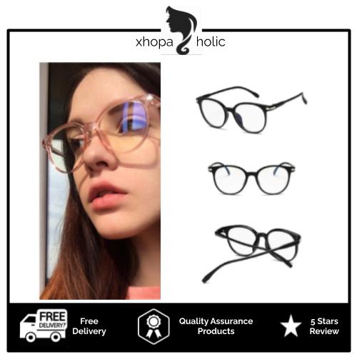 [100% Ready Stock] Vintage Retro Round Designed Clear Lens Glasses