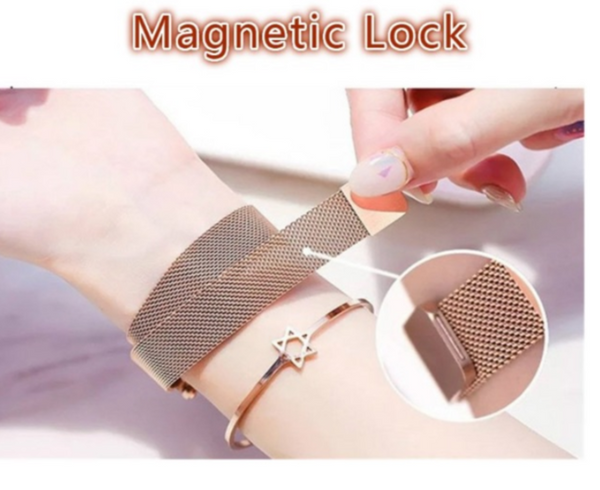 [100% Ready Stock] Starry Diamond Magnetic Buckle Stainless Steel Women Watch