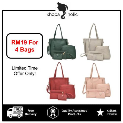 Sandy 4 in 1 Bag Premium Set Women Handbag