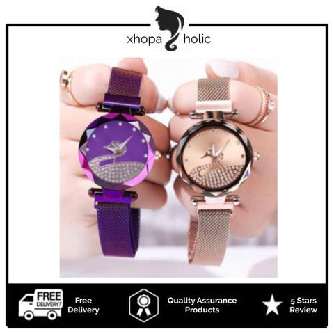 Enchanted Swan Magnetic Women Watch