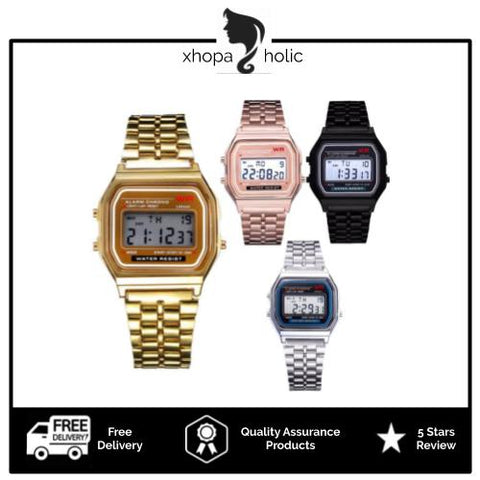 [Bundle for 2 @ RM45] [100% Ready Stock] Snova Digital Stainless Steel Premium Watch