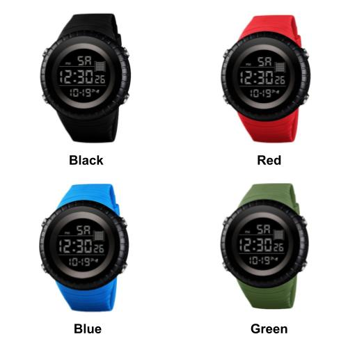 [2 Watches For RM50] [100% Ready Stock] Big Dial Unisex Silicone Strap LED Digital Watch