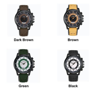 [Bundle for 2 @ RM35] [100% Ready Stock] Military Calendar Unisex Leather Sport Watch
