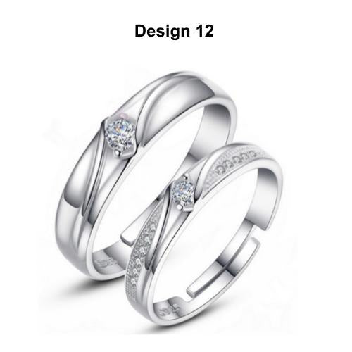 [Couple Ring Set @ RM45] [Comes With Ring Box] Luxurious Minimalist Designed Couple Rings