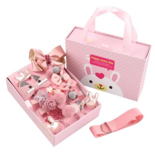 [100% Ready Stock] [Free Gift Box] 18 Pieces Cute Little Girl Hair Accessories With Hair Clip Band