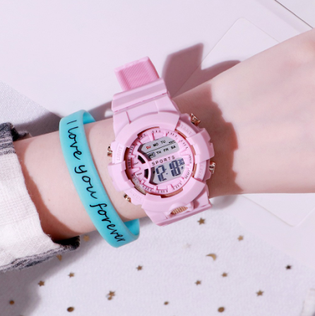 [100% Ready Stock] Colourful Multi-Functional Display Unisex Watch