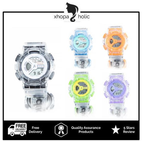 [Bundle for 2 @ RM45] [100% Ready Stock] Transparent Solid Colour Unisex Multi-Functional LED Watch