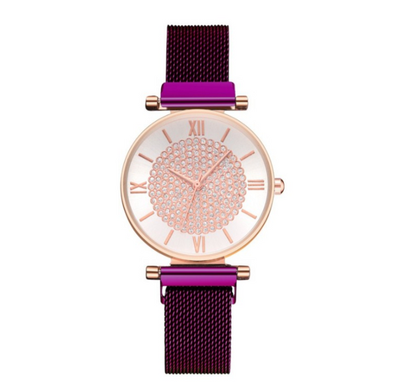 Starry Lady Magnetic Buckle Stainless Steel Women Watch