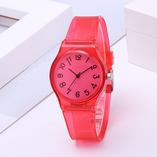 Colorful Jelly Sports Band Unisex Watches