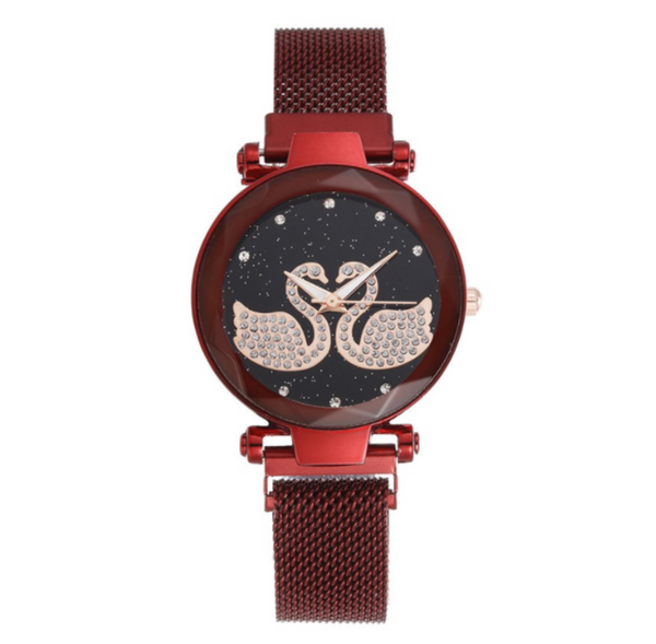 Double Swan Magnetic Women Watch