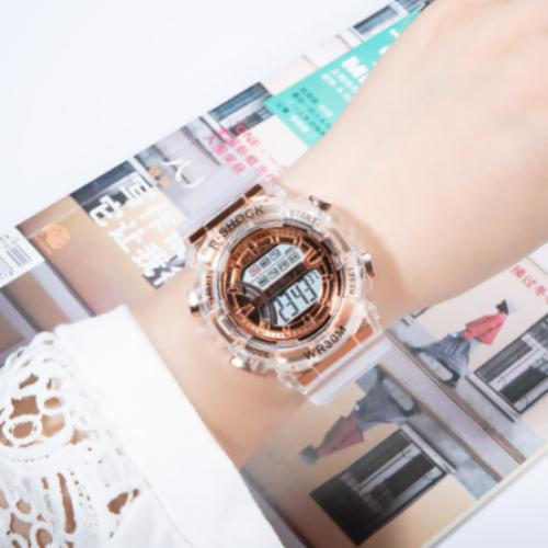 [Bundle For 2 @ RM45] [100% Ready Stock] Transparent Stylish Unisex Multi-Functional LED Watch