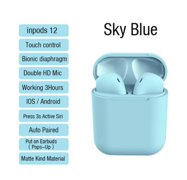 [100% Ready Stock] inPods 12 TWS Wireless Bluetooth Earphone