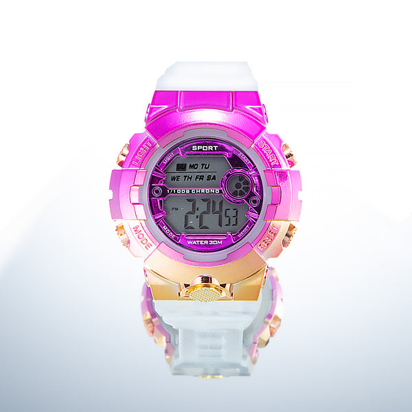 [Bundle for 2 @ RM45] [100% Ready Stock] Transparent Rainbow Colour Unisex Multi-Functional LED Watch