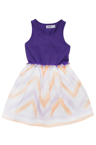 WATERCOLOUR DRESS PURPLE